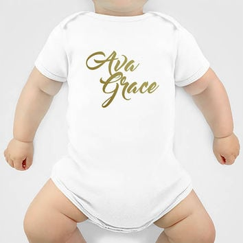 Baby Girl Clothes - Baby Girl Coming Home Outfit - Baby Bodysuit - Birthday Outfit - Monogrammed Baby Shower Girl Gifts - Baby Girl Outfits