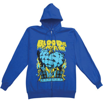 Blood On The Dance Floor Men's  Dance Zippered Hooded Sweatshirt Blue Rockabilia