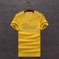 One-nice™ VERSACE Women Man Fashion Print Sport Shirt Top Tee