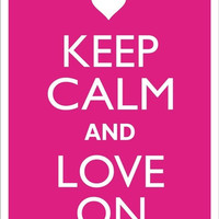 KEEP CALM And LOVE On Tin Aluminum Parking sign home decor wall hanging