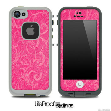 Barbie Pink Vine Skin for the iPhone 4/4s or 5 LifeProof Case