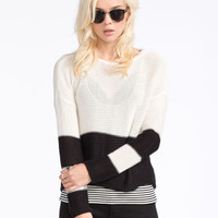 Volcom Front Row Womens Sweater Cream  In Sizes