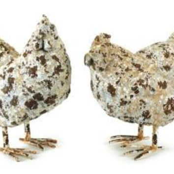 4 Chicken Figures - Rooster And Hen