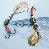 Vintage Mepps Aglia Fishing Lures No. 1 and 2