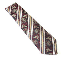 Burgundy Paisley Necktie Don Loper Neck Tie Dark Red