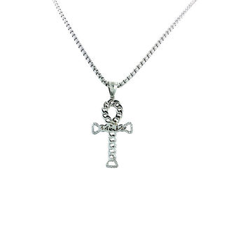 Cuban Ankh Necklace (Silver)