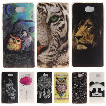 "Case For Huawei Y5 II Cover Luxury Printing Soft TPU Phone Bags Case For huawei Y5II 5.0"" Phone Funda Shell Coque Gel covers"