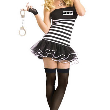 Guilty Conscience Striped Mini Skater Costume Set