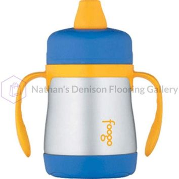 Thermos Foogo Vacuum Insulated Soft Spout Sippy Cup - 7oz - Blue