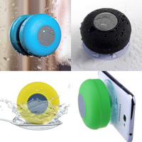 Waterproof Wireless Bluetooth Handsfree Mic Suction Mini Speaker Shower Car Blue Fuchsia = 1705962692