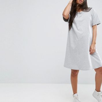 ASOS Maternity Ultimate T-Shirt Dress with Rolled Sleeves at asos.com