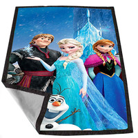 Frozen 3adeca05-eee7-47cb-928c-dc7270c14b00 for Kids Blanket, Fleece Blanket Cute and Awesome Blanket for your bedding, Blanket fleece *02*