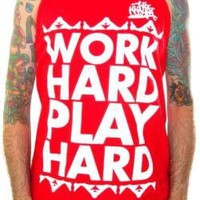 ROCKWORLDEAST - Wiz Khalifa Tank Top, Work Hard Play Hard