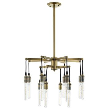 Resolve Antique Brass Ceiling Light Pendant Chandelier