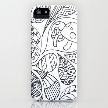 Thought Bubbles iPhone & iPod Case by Molly Jane Kickham