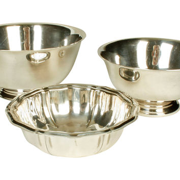Silverplate Bowls, S/3