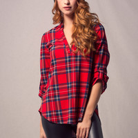 Timber Plaid Top