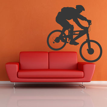 BMX bicycle bike Wall Decal Vinyl Sticker Art Decor jump great sport workout boy garage wheel trucks trick mountain (i111)