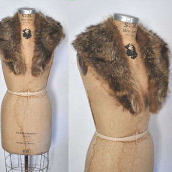 Raccoon Fur Collar / genuine fur