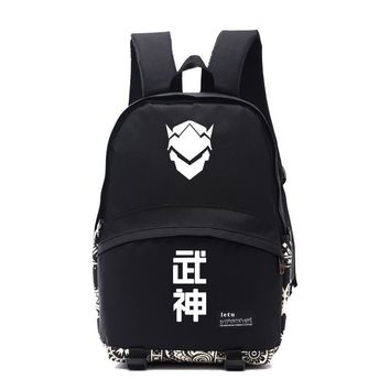 New game fans backpack OW fans gift GENJI backpacks gift for boyfriend genji NB018