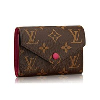 Louis Vuitton Wallet Women LV Wallet Monogram Canvas Victorine Wallet