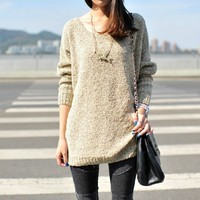 Loose All-match Bat Sleeve Pullover.. on Luulla