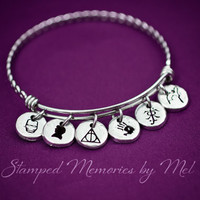 Fan-tastic Bangle - Hand Stamped Fangirl Bracelet - Fandom - Sherlock, Iron Man, Harry Potter, Game of Thrones, Walking Dead, Tolkien