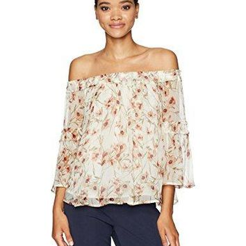 Lucky Brand Women's Shirred Off Shoulder Top
