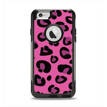 The Pink Vector Cheetah Print Apple iPhone 6 Otterbox Commuter Case Skin Set