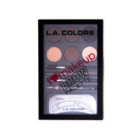 LA Colors I Heart Makeup Brow Palette - Medium/Dark