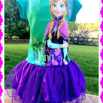 girls Anna dress Frozen dress 10/12 Last One
