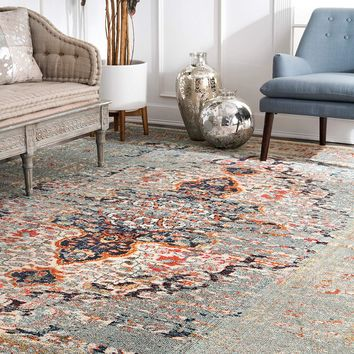 9337 Gray Distressed Oriental Area Rugs