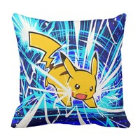 PicachuuUUU!! Lightning Bolt Throw Pillow