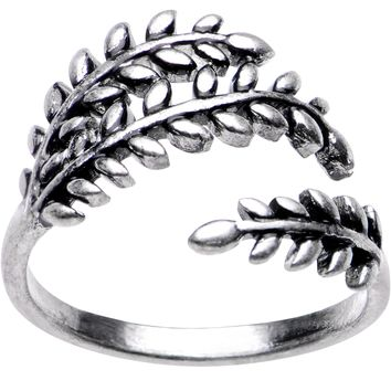 Silver Plated Olive Branch Toe Ring