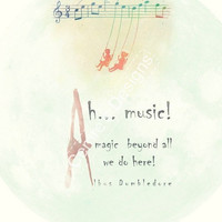 Albus Dumbledore Quote Poster - Ah Music... A Magic beyond all we do here... Wall Art - Magical Inspiration -  A4 POSTER Digital Print