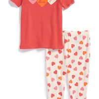 Infant Girl's Tucker + Tate Two-Piece Fitted Pajamas,