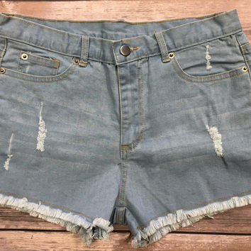 Bring the Heat Denim Shorts