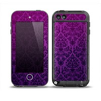 The Purple Delicate Foliage Pattern Skin for the iPod Touch 5th Generation frē LifeProof Case