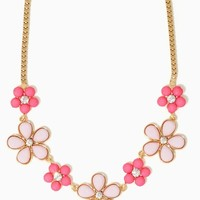 Petal Rock Necklace | Jewelry Flowers Rhinestones | charming charlie