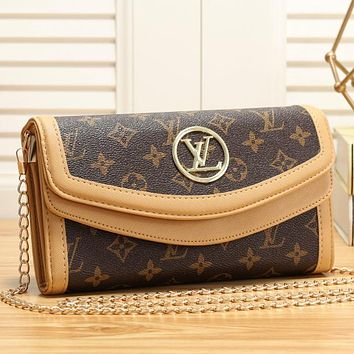 Louis Vuitton LV Women Fashion Chain Crossbody Shoulder Bag Satchel