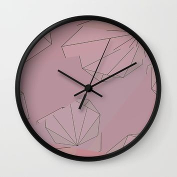 Shapes Shifted Wall Clock by Ducky B