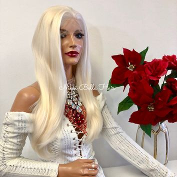 """Blond FRENCH Lace Front Wig 