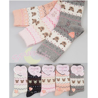[3 For 2]Kawaii Teddy Bear Thick Warm Woolen Socks Free Ship SP141335