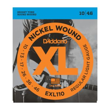 D'Addario EXL110-3D Nickel Wound Electric Guitar Strings, Regular Light, 10-46, 3-Pack