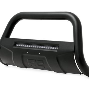 Ford Bull Bar w/LED Light Bar | Black (11-14 F-250/350 Super Duty) 2011-2014 Ford F-250 Super Duty 2WD/4WD