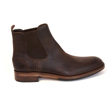 Wolverine 1000 Mile Montague Chelsea - Dark Brown Leather Pull-On Gore Boot