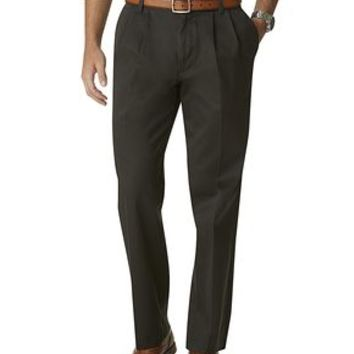 Dockers Signature Khaki Pants, Classic Fit Pleated - Brown Bean - Men's