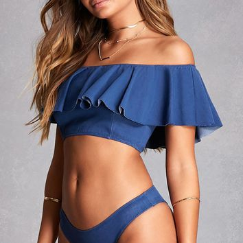Denim-Inspired Bikini Set