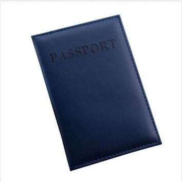 CREYCI7 Travel Utility Simple Passport ID Card Cover Holder Protector Skin Leather New