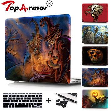Case For Macbook Air 11 13 new 12 inch Cover Fantasy Skull Print Plastic Hard Case For MacBook Pro 13 15 Touch bar Retina 13""